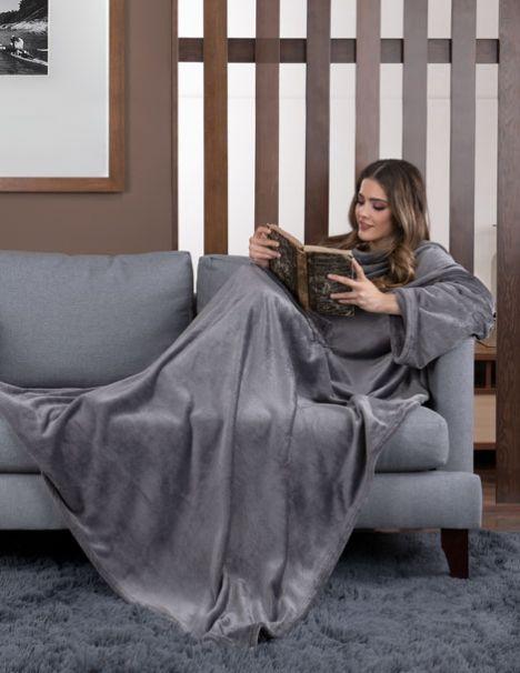 Cobertor con Mangas Gris