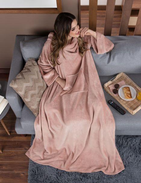 Cobertor con Mangas Rosa
