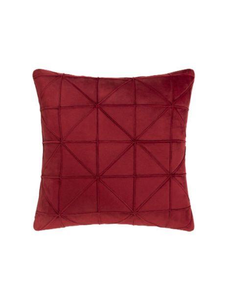 Cojin Velvet Luxus Escarlata
