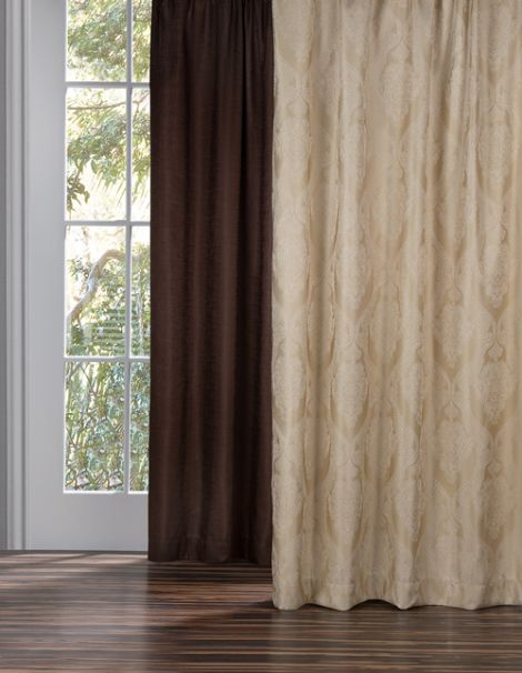 Cortinas Jacquard Brocado