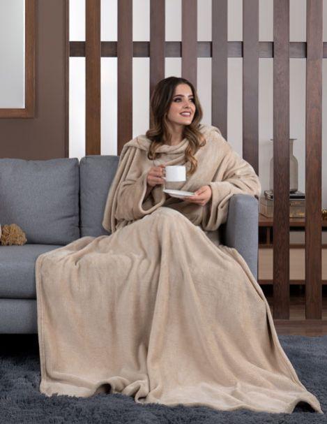 Cobertor con Mangas Khaki