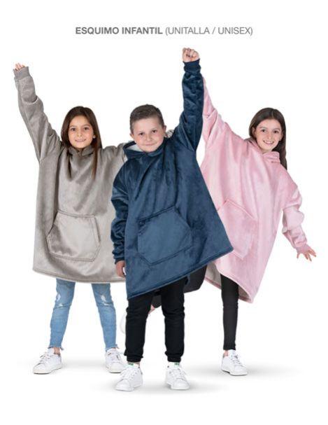 Esquimo Infantil - Sudadera gigante de borrega