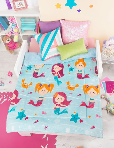 Cobertor Infantil Sirenitas