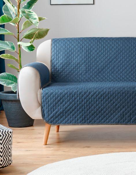 Protector de sillón Azul-Gris