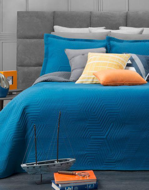Edredón Ligero Pinsonic Azul-Gris
