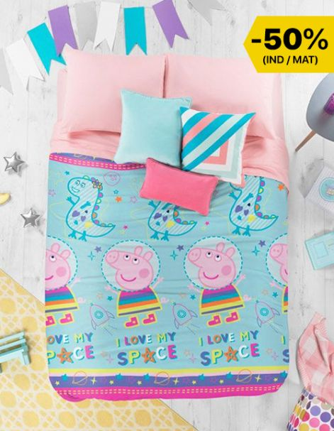 Cobertorcito Peppa I love my Space